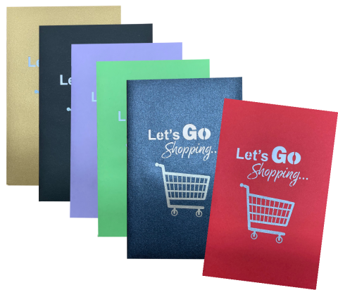 Let's Go Shopping     New POP UP Card Now Available